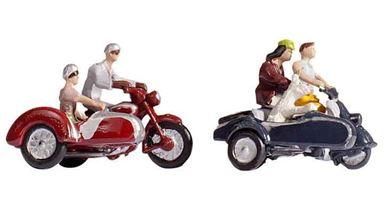 NOCH 15905 — Мотоциклисты на мотоциклах с колясками, 1:87