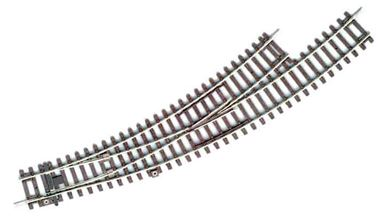 PIKO 55227 — Стрелка левая радиусная BWL-R3 (для R3 и R4), H0