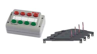 PIKO 55392 — 4 электропривода стрелок с пультом для аналоговых наборов, H0