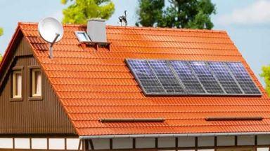 AUHAGEN 41651 — Солнечные батареи и спутниковая антенна, 1:87