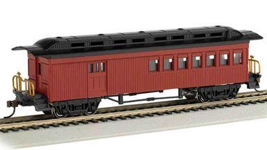 BACHMANN 13502 — Пассажирский вагон с багажным отсеком (красный), H0, 1860—1880