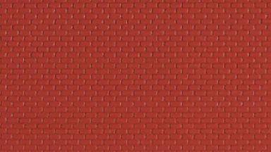 AUHAGEN 52412 — Кирпич красный (пластик ~100×200мм), 1:87—1:120
