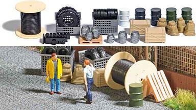 BUSCH 1632 — Набор промышленных и строительных аксессуаров, кабельная катушка, 1:87