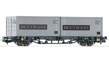 PIKO 57747 — Платформа с контейнерами «Deutrans», H0, DR, IV