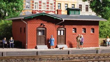 AUHAGEN 11384 — Вокзальный туалет из кирпича, 1:87