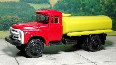 RUSAM-ZIL-130-65-240 — Автомобиль-цистерна ЗИЛ 130 (красно-жёлтый), 1:87, 1963—1986, СССР