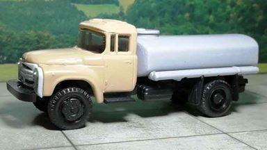 RUSAM-ZIL-130-65-450 — Автомобиль-цистерна ЗИЛ 130 (бежево-серый), 1:87, 1963—1986, СССР