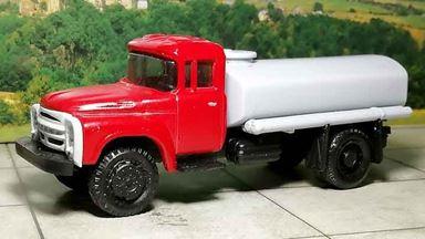 RUSAM-ZIL-130-65-250 — Автомобиль-цистерна ЗИЛ 130 (красно-серый), 1:87, 1963—1986, СССР