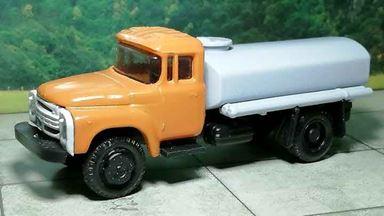RUSAM-ZIL-130-65-350 — Автомобиль-цистерна ЗИЛ 130 (оранжево-серый), 1:87, 1963—1986, СССР