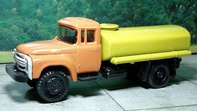 RUSAM-ZIL-130-65-340 — Автомобиль-цистерна ЗИЛ 130 (оранжево-жёлтый), 1:87, 1963—1986, СССР