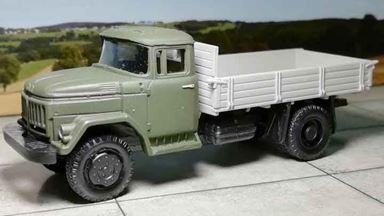 RUSAM-ZIL-53131-10-950 — Автомобиль ЗиЛ 53131 АМУР низкий борт, 1:87, СССР