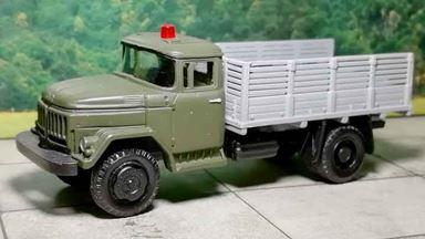 RUSAM-ZIL-53131-20-951 — Автомобиль ЗиЛ 53131 АМУР высокий борт со спец сигналом, 1:87, СССР
