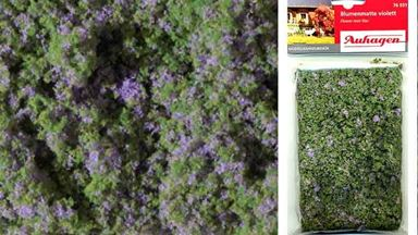 AUHAGEN 76931 — Луг с фиолетовыми цветами (пена, мат 95×150мм), 1:16–1:250