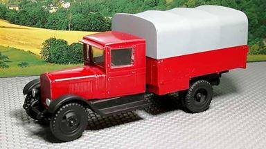 RUSAM-ZIS-5-15-225 — Автомобиль пожарной службы ЗиС-5 с тентом, 1:87, 1933—1958, СССР