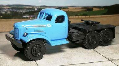 RUSAM-ZIL-157-01-600 — Седельный тягач ЗИЛ 157 (голубая кабина), 1:87, 1958—1994, СССР