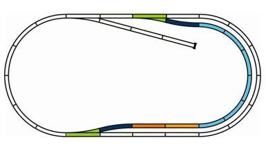 PIKO 55321 — Набор пути C на призме, H0
