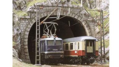 BUSCH 7027 — Порталы для электровозов двухпутные (2 шт.), 1:87