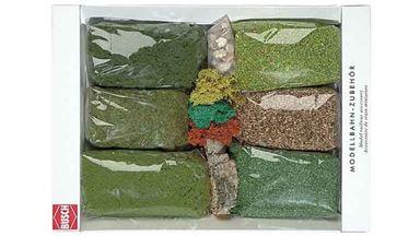 BUSCH 7190 — Флок, присыпки, мох, пробка, камни, кора, 1:18–1:220