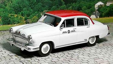 HERPA 049634 — Автомобиль такси ГАЗ-21 «Волга», 1:87, 1956—1970, СССР