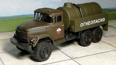 RUSAM-ZIL-131-65-901 — Топливная автоцистерна ЗИЛ «СА» «ОГНЕОПАСНО», 1:87, СССР