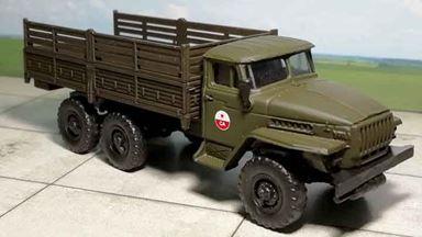 RUSAM-URAL-4320-20-901 — Автомобиль УРАЛ 4320 «СА» высокий борт, 1:87, 1977, СССР