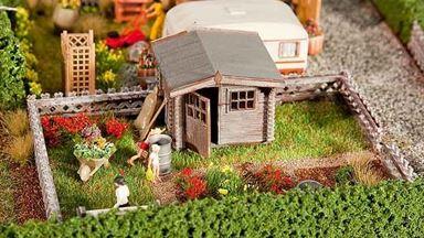 FALLER 180492 — Огород с садовым домиком, 1:87, 1946–1977