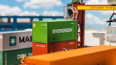 FALLER 180821 — 20-футовый контейнер «EVERGREEN», 1:87, 1986–2006