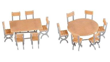 FALLER 180957 — 2 стола и 12 стульев, 1:87, 1946–1977