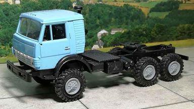 RUSAM-KAMAZ-4310-00-600 — Седельный тягач КамАЗ (голубой), 1:87, 1976, СССР