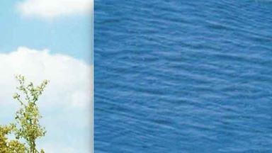 BUSCH 7426 — Водная поверхность (2 листа×210×148мм ≈ 0,062 м²), 1:72—1:100