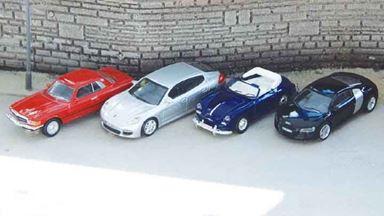 PIKO 55737 — Легковые автомобили (металл, 4 машинки), 1:87, 2008