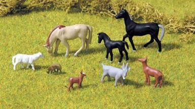 PIKO 55732 — Домашние животные (8 фигурок), 1:72—1:100
