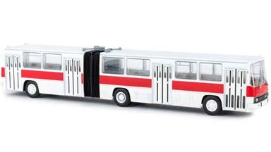 BREKINA 59701 — Городской автобус Икарус 280 (бело-красный), 1:87, 1973—2002, СССР