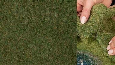 NOCH 07281 — Трава дикая темно-зелёная (фолиаж ~200×230мм≈0,046м²), 1:10—1:250