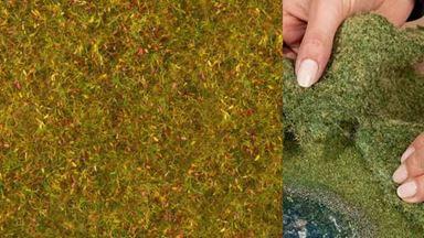 NOCH 07290 — Луговая растительность жёлто-зелёная (фолиаж ~200×230мм≈0,046м²), 1:10—1:250