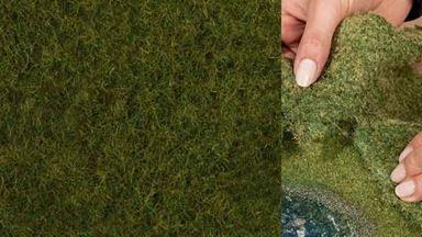 NOCH 07282 — Лесная трава оливково-зелёная (фолиаж ~200×230мм≈0,046м²), 1:10—1:250