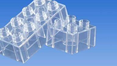 CIDDI TOYS 10156 — Блок 4×2 прозрачный (1 кирпичик)