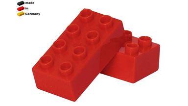 CIDDI TOYS 10170-4 — Блок 4×2 красный (1 кирпичик)