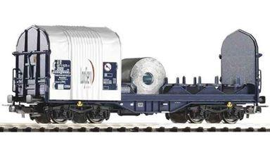 PIKO 54396 — Платформа для перевозки металлопроката Shimmns «LogServ», H0, V, DB AG