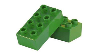 CIDDI TOYS 10173-8 — Блок 8×2 зелёный (1 кирпичик)