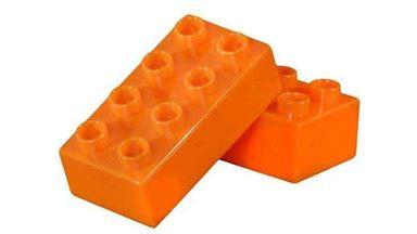 CIDDI TOYS 10174-8 — Блок 8×2 оранжевый (1 кирпичик)