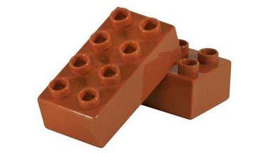 CIDDI TOYS 10176-8 — Блок 8×2 коричневый (1 кирпичик)