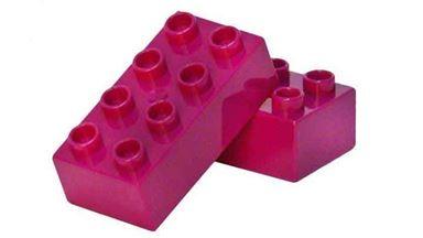CIDDI TOYS 10177-8 — Блок 8×2 пурпурный (1 кирпичик)