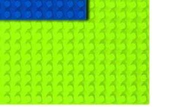 HUBELINO 401083 — Плата 140 (площадка) салатового цвета для блоков, размер 80×112 мм