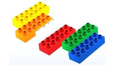 HUBELINO 403803 — 5 кубиков 6×2 пин различных цветов совместимых LEGO Duplo®