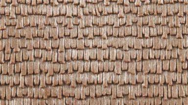 AUHAGEN 52428 — Дранка, деревянная черепица (пластик ~100×200мм), 1:72–1:120