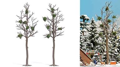 BUSCH 6795 — Зимние деревья с омелой (2 дерева ~165мм), 1:72—1:100