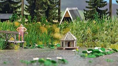 BUSCH 1267 — Набор: Лесной пруд, 1:72—1:100