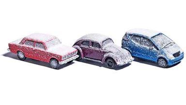 BUSCH 89010 — Автомобили в снегу (3  машинки), 1:87