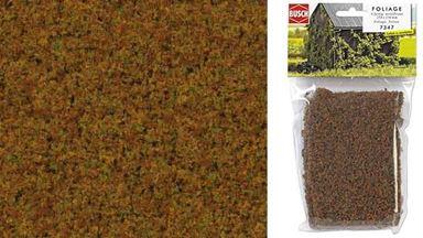 BUSCH 7347 — Листва трехцветная средне-коричневая (фолиаж ~150×250 мм), 1:35—1:250